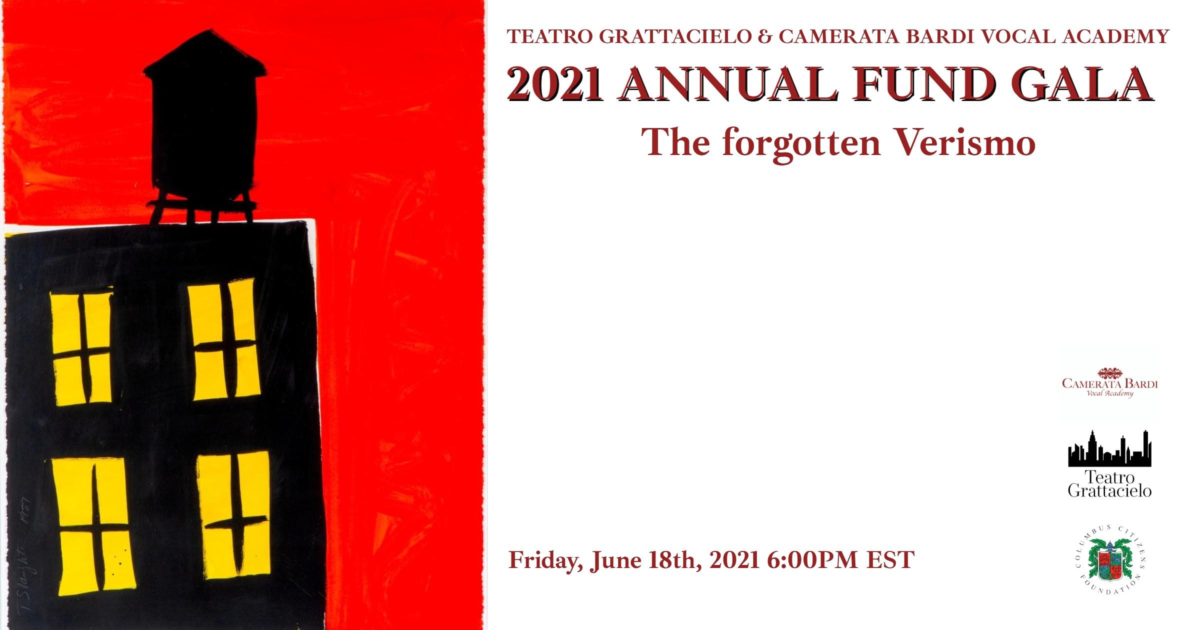 2021 ANNUAL FUND GALA | THE FORGOTTEN VERISMO