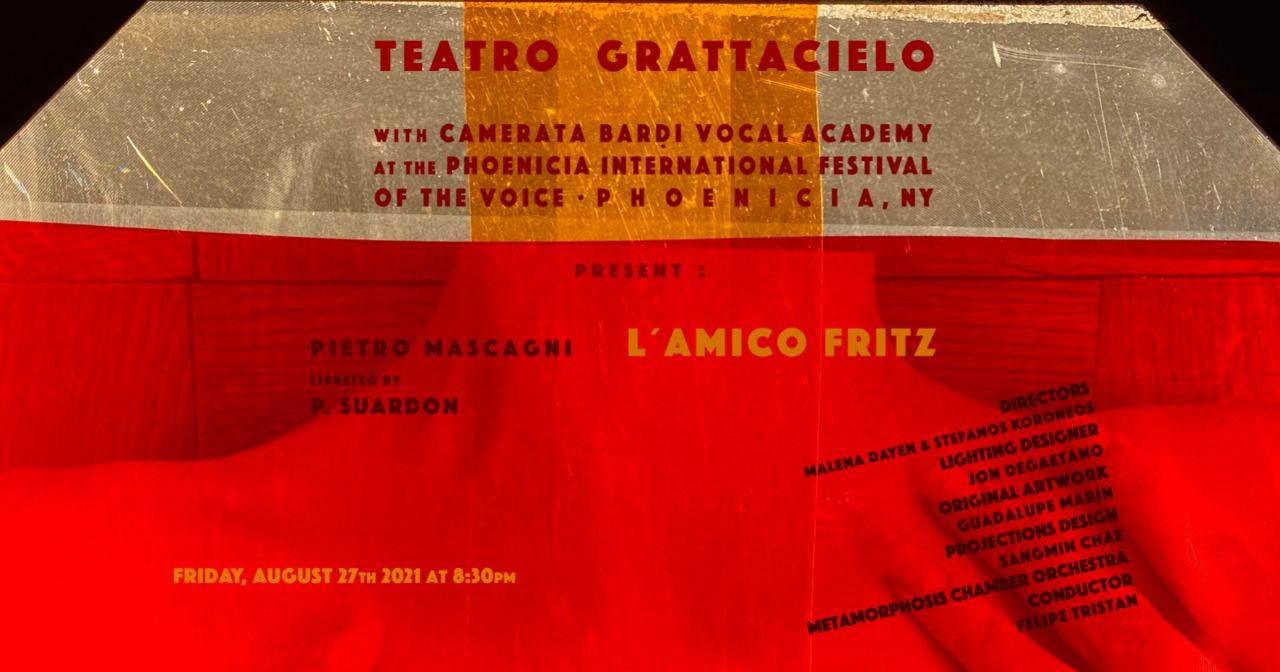PIETRO MASCAGNI   L'AMICO FRITZ   AUGUST 27 2021 at the Phoenicia International Festival of the Voice   PHOENICIA, NY